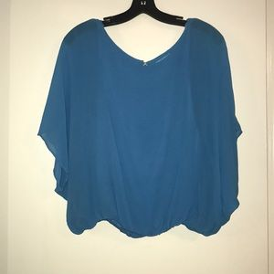 Blue Alice and Olivia sheer top